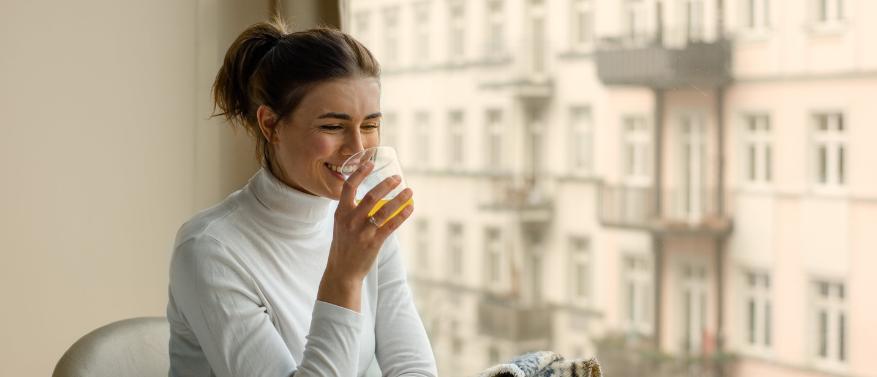 jeune intermittent boisson probiotiques