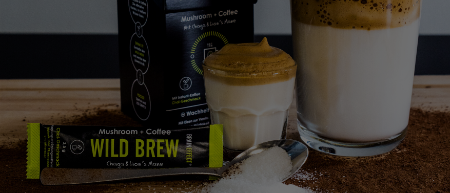 Dalgona Coffee Kreation mit Powerpilzen oder als Schoko-Kokos Treat
