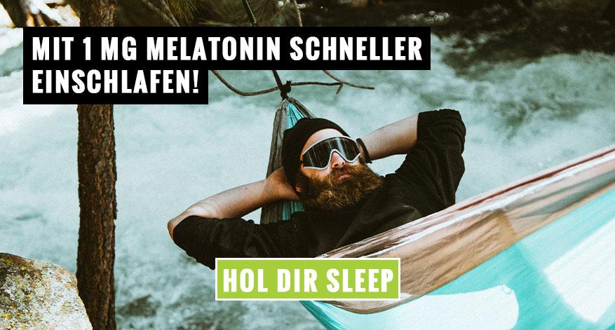 Mit 1 mg Melatonin schneller einschlafen