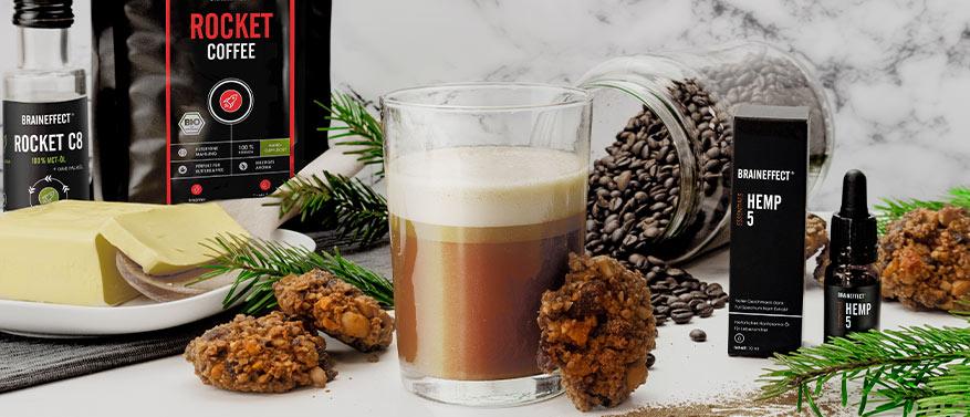 Gesunde Weihnachtsrezepte - Bulletproof Christmas Coffee