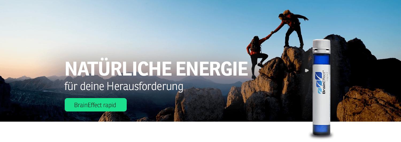 Natürliche Energie und Konzentration für deine Herausforderung mit BrainEffect rapid zum Erfolg