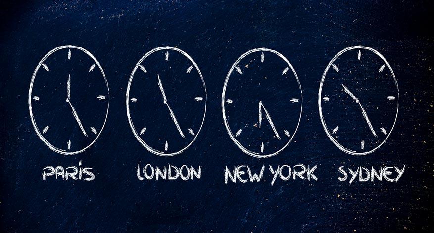 Jetlag Zeitzonen